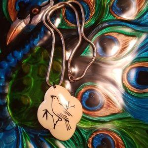 Eisenberg Enamel and Gold tone necklace vintage
